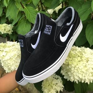 Nike SB Zoom Stefan Janoski Slip-On Black White